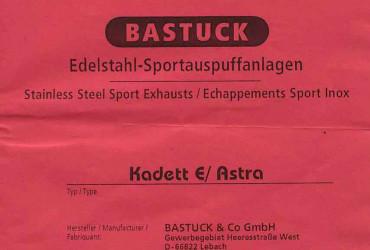 Kadett E Bastuck Sportauspuff Auspuffanlage A110...L