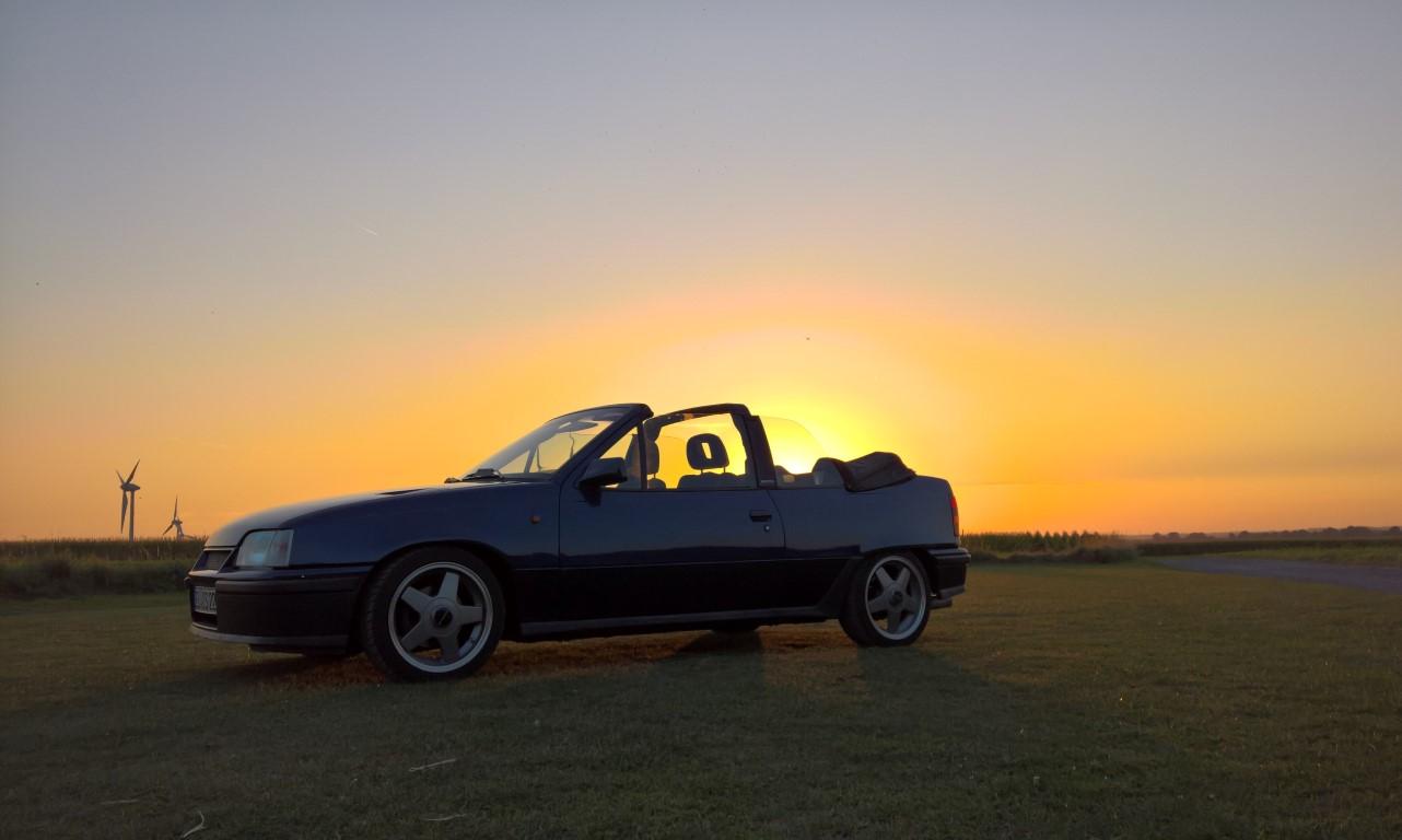 Cabrio auf Wanderschaft