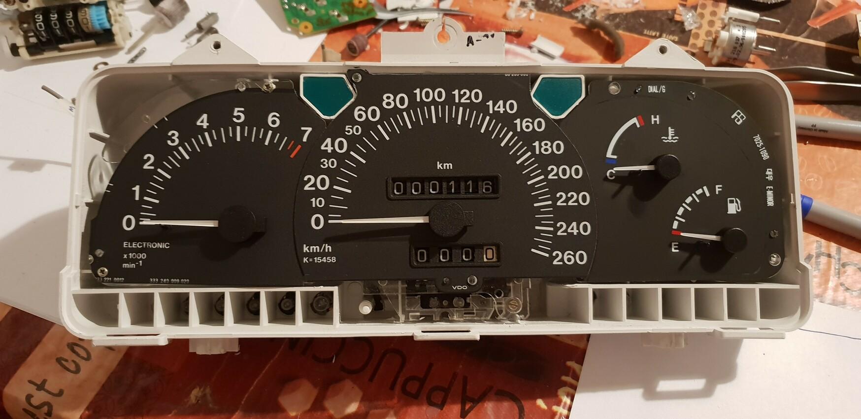 Nexia tacho umgebaut auf v6